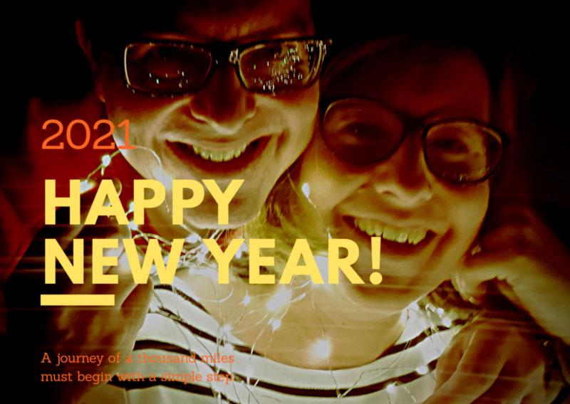 happy new year wünschen A & B
