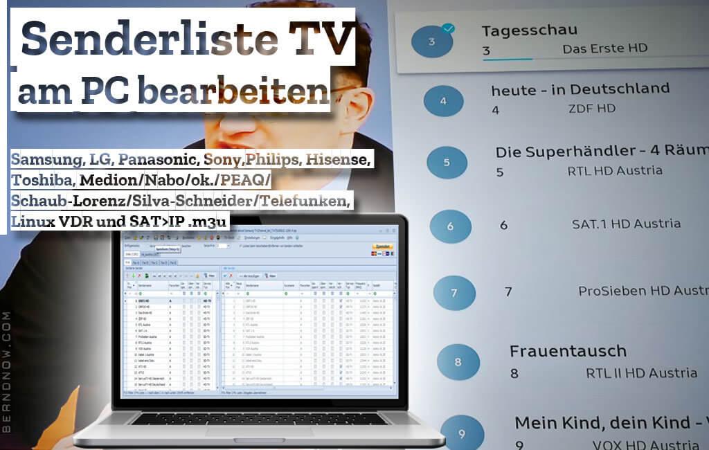 TV Senderliste am PC sortieren